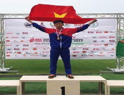 <b>Vietnam wins three silvers at Asian Youth Athletics Champs</b> <br /><i>Vietnam won three silvers on the last day of the second Asian Youth Athletics Championships which closed in Bangkok on May 23.</i>